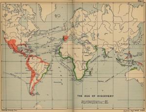 Harta lumii la 1600